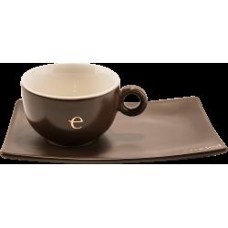 Tazze Emidea in ceramica con piattino (set 6 pz)