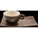 Tazze Emidea in ceramica con piattino