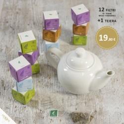12 Cubetti (Tè, Tisane, Infusi...) + Teiera