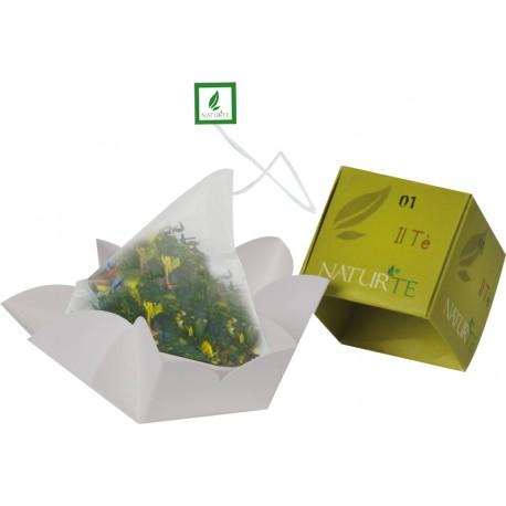 Naturtè - Cubetto Tè con filtro in seta 5 pz